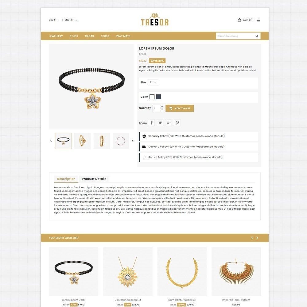 theme - Jewelry & Accessories - Tresor Jewellery Shop - 5