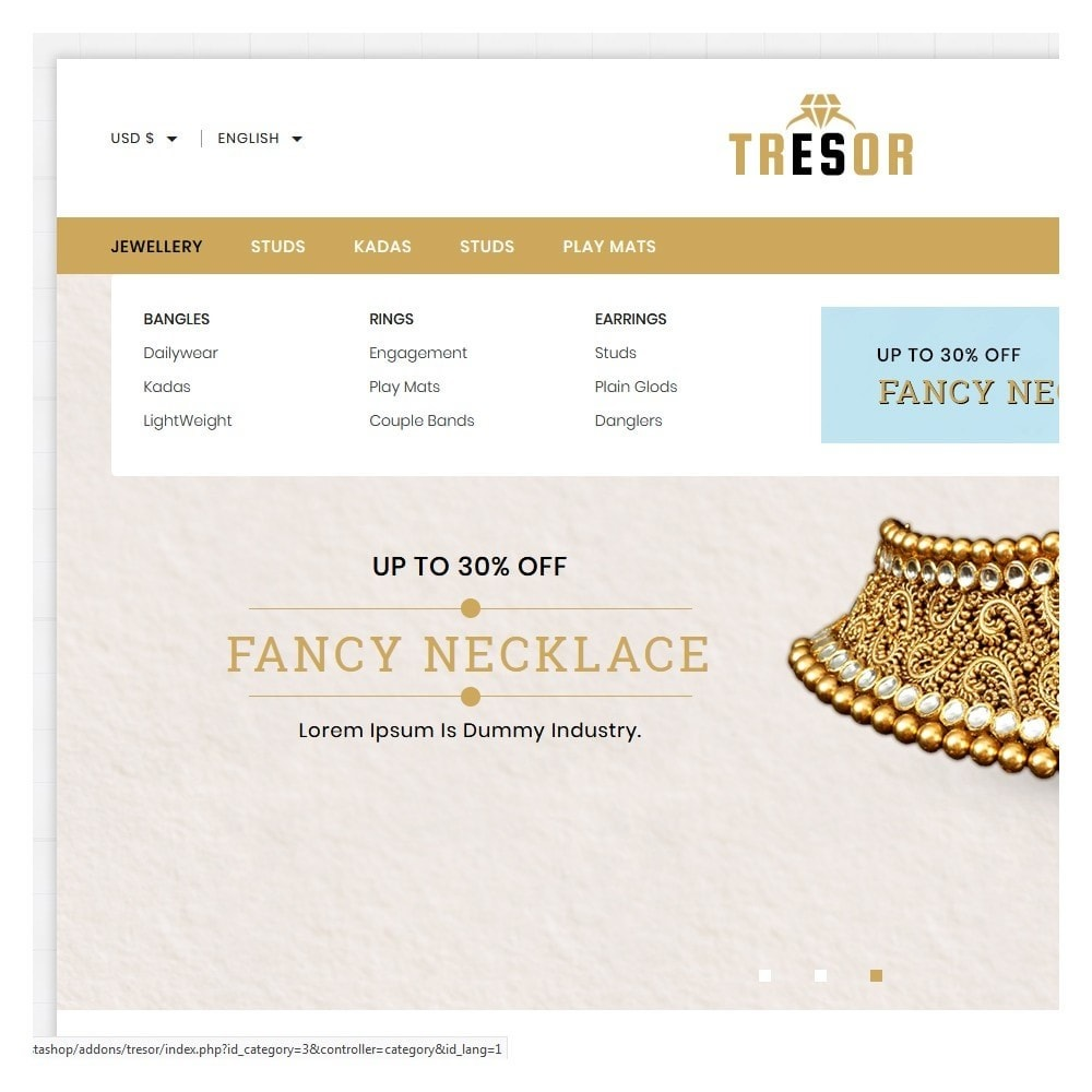 theme - Jewelry & Accessories - Tresor Jewellery Shop - 8