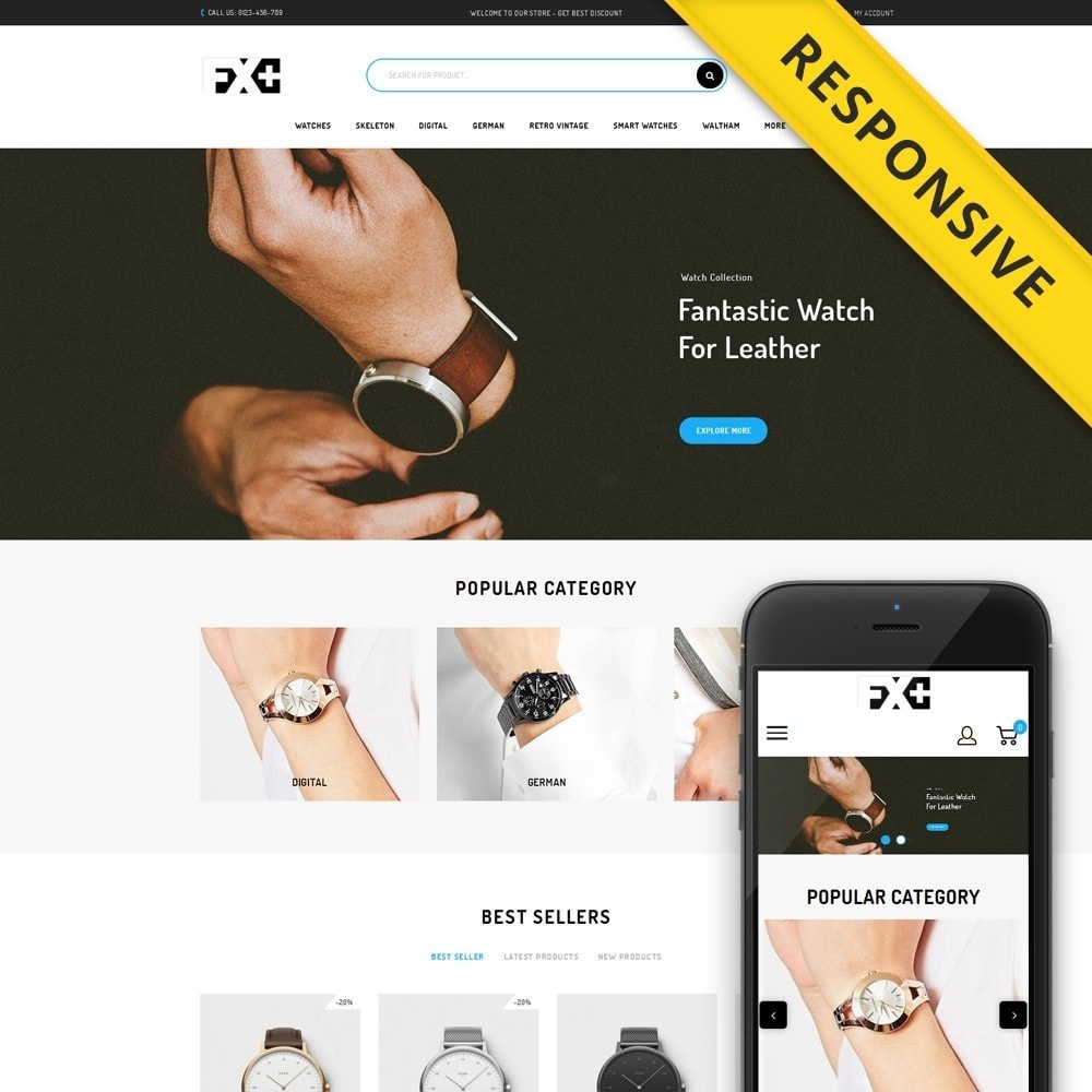 theme - Jewelry & Accessories - FX-Plus Watch Store - 1