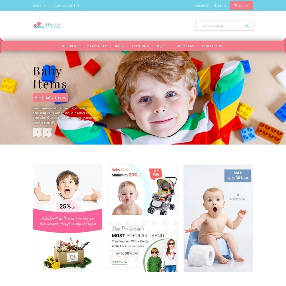 theme - Kids & Toys - Mamy and Kids - 2