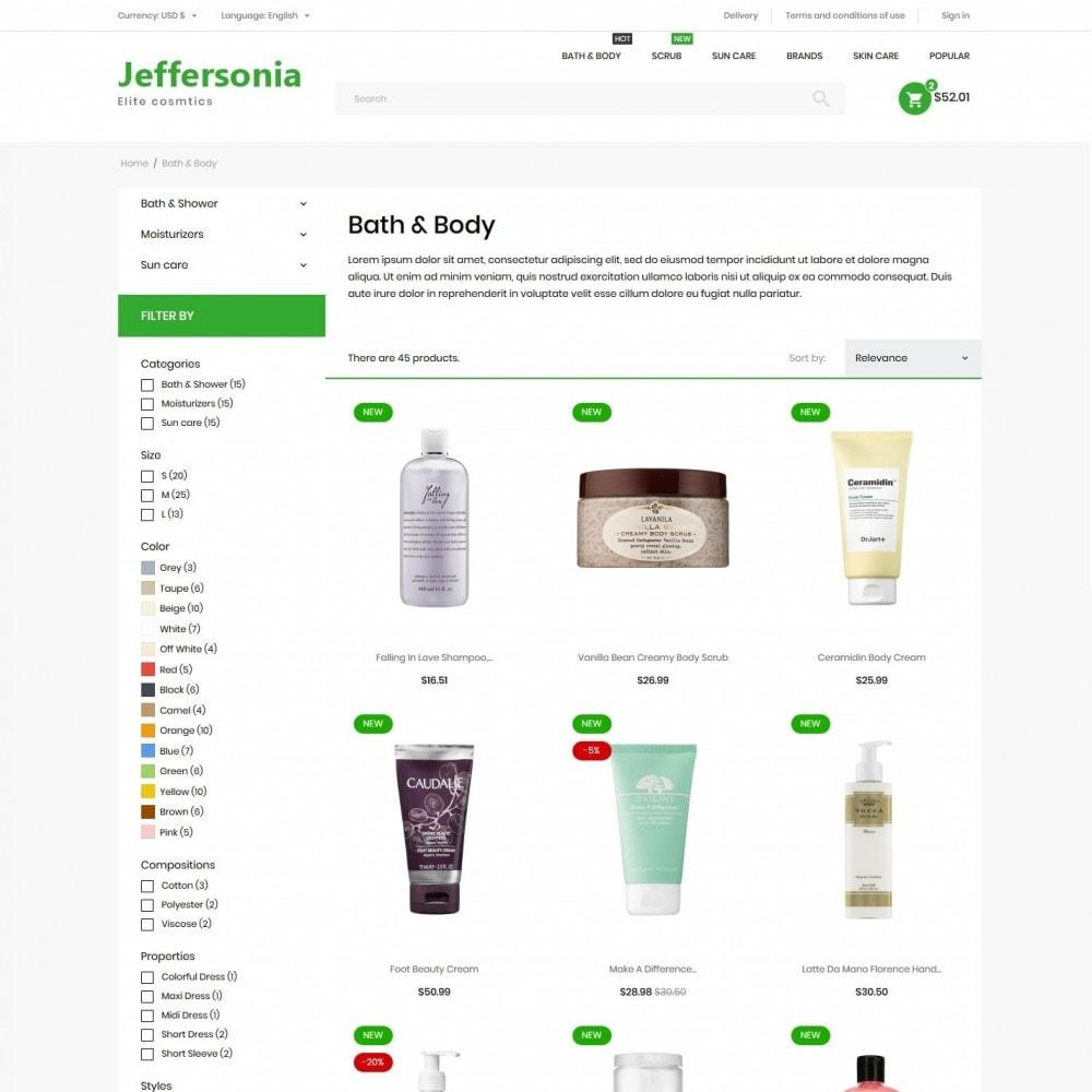 theme - Health & Beauty - Jeffersonia Cosmetics - 5