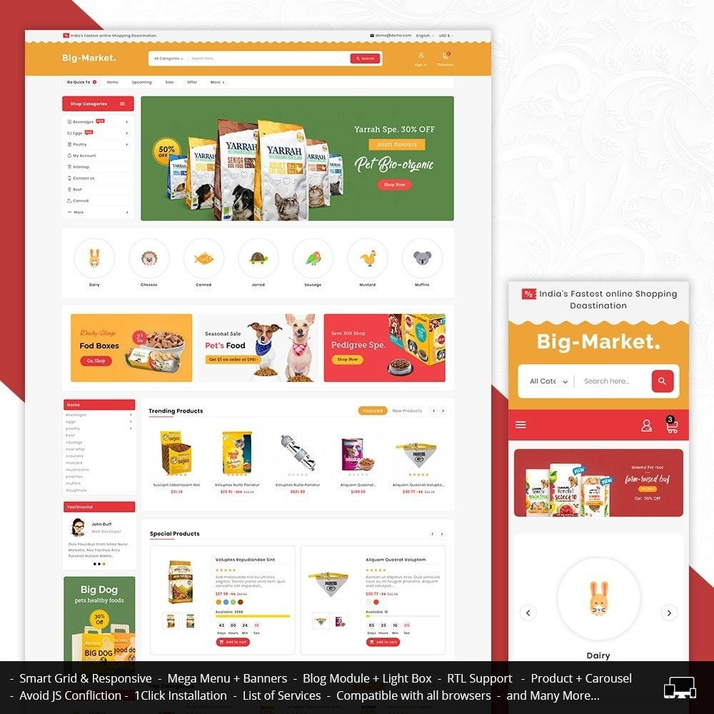 theme - Animais - Big Market Pet Foods - 1