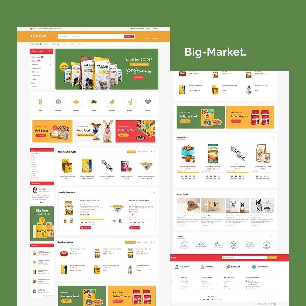 theme - Animales y Mascotas - Big Market Pet Foods - 2