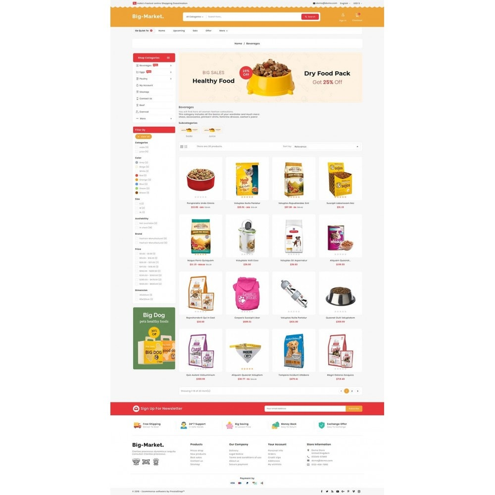 theme - Animales y Mascotas - Big Market Pet Foods - 3