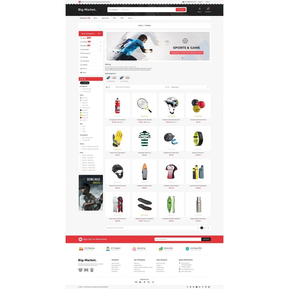 theme - Desporto, Actividades & Viagens - Big Market Sports Store - 3