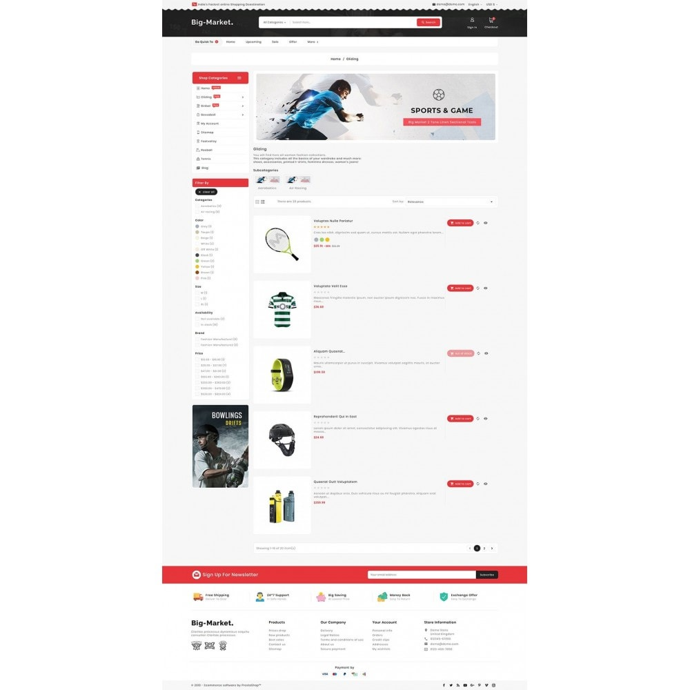 theme - Desporto, Actividades & Viagens - Big Market Sports Store - 4