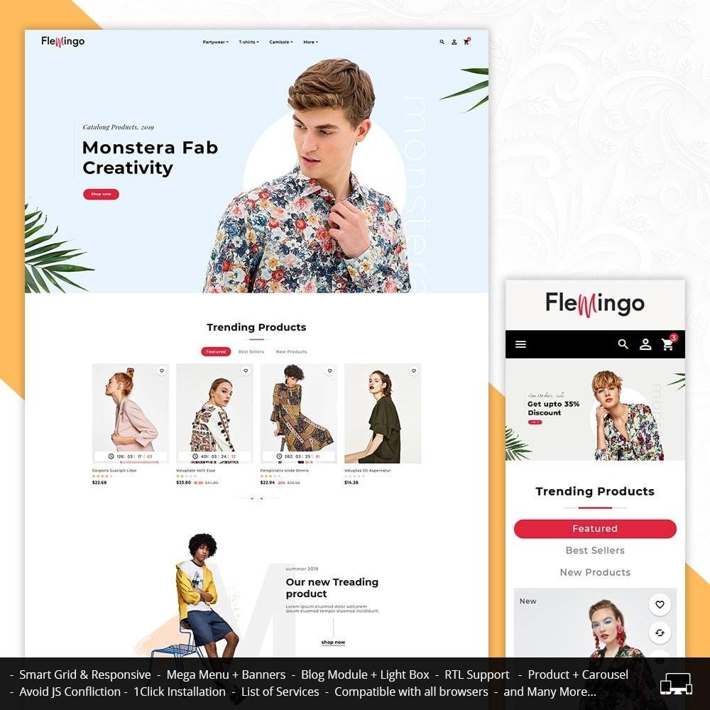 theme - Fashion & Shoes - Floral Flamingo & Fashion Apparels - 1