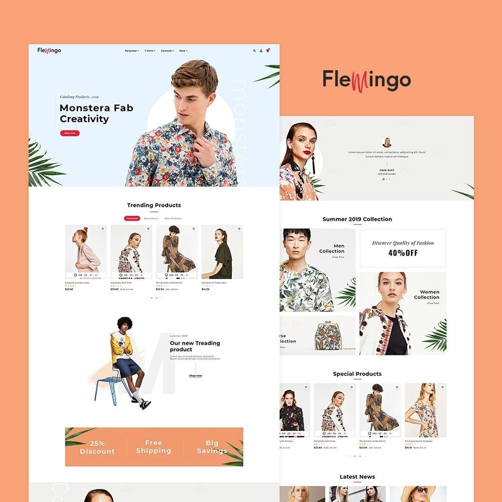 Floral Flamingo & Fashion Apparels