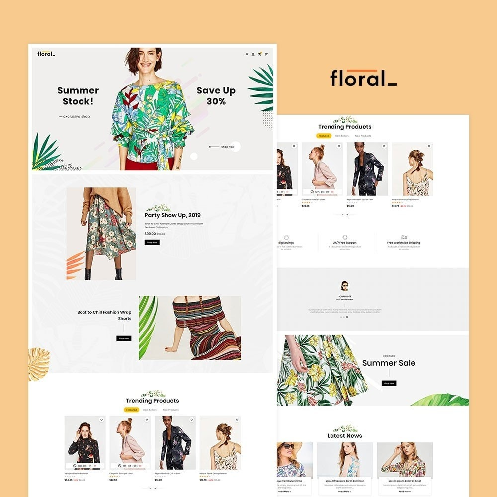 Floral Fashion Apparels