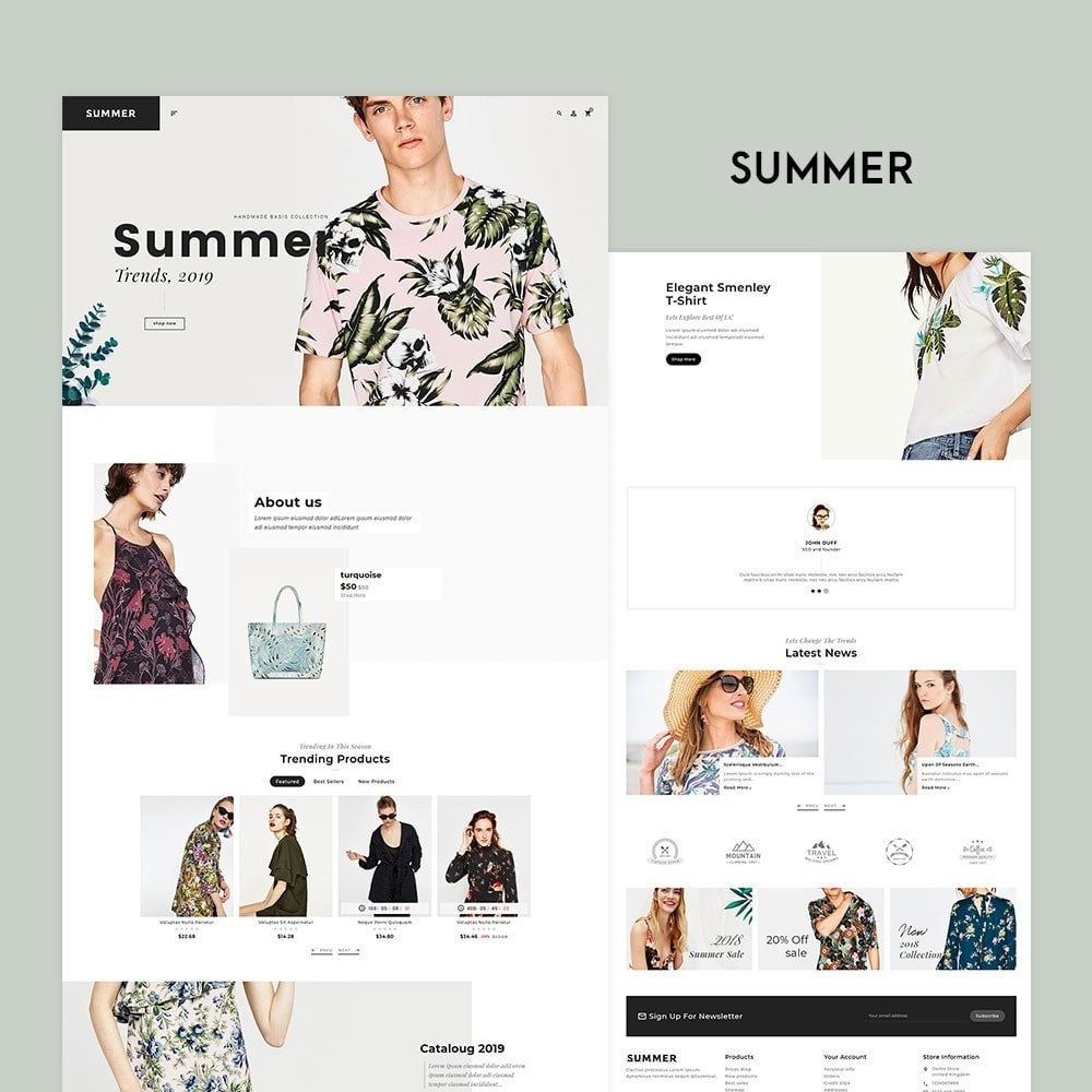 Floral Fashion - Summer Shop
