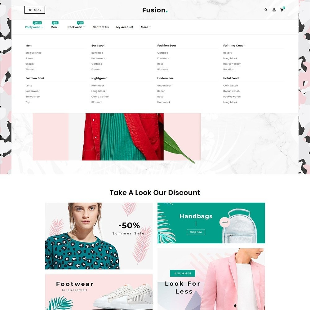 theme - Fashion & Shoes - Fashion Fusion - Floral Look - 9