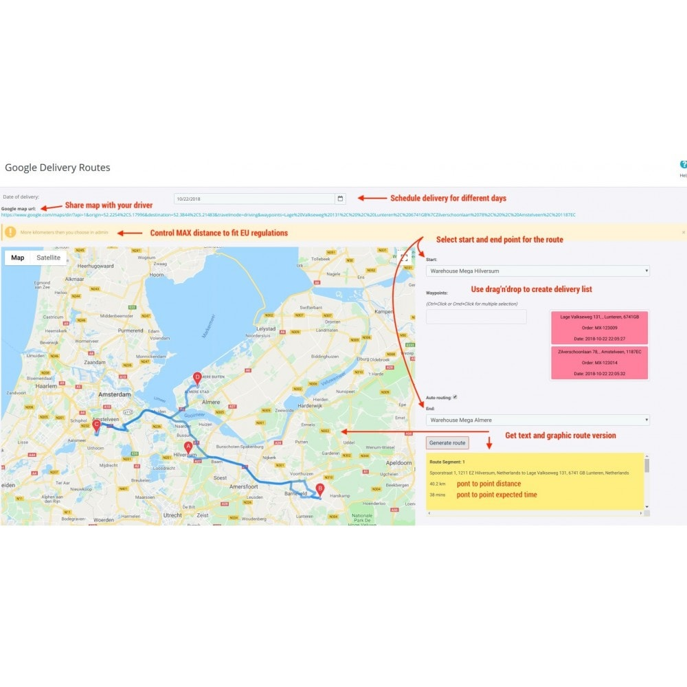 module - Transport & Logistiek - Delivery routes planing - 1