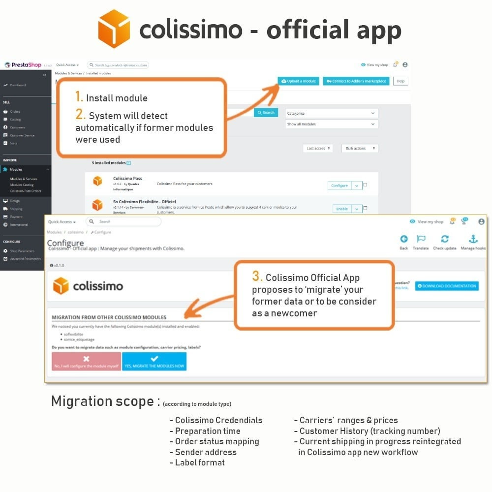 module - Vervoerder - Colissimo - Official app: your shipments with Colissimo - 2