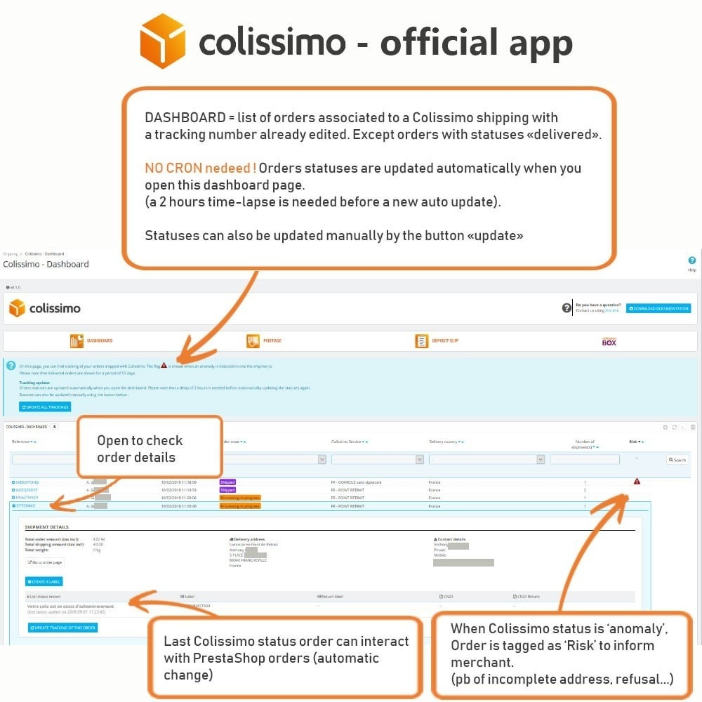 module - Shipping Carriers - Colissimo - Official app: your shipments with Colissimo - 10