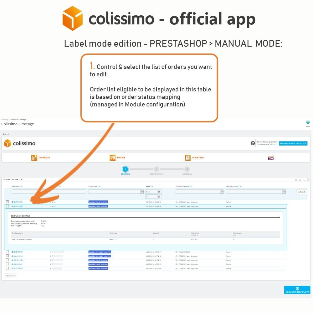 module - Shipping Carriers - Colissimo - Official app: your shipments with Colissimo - 12