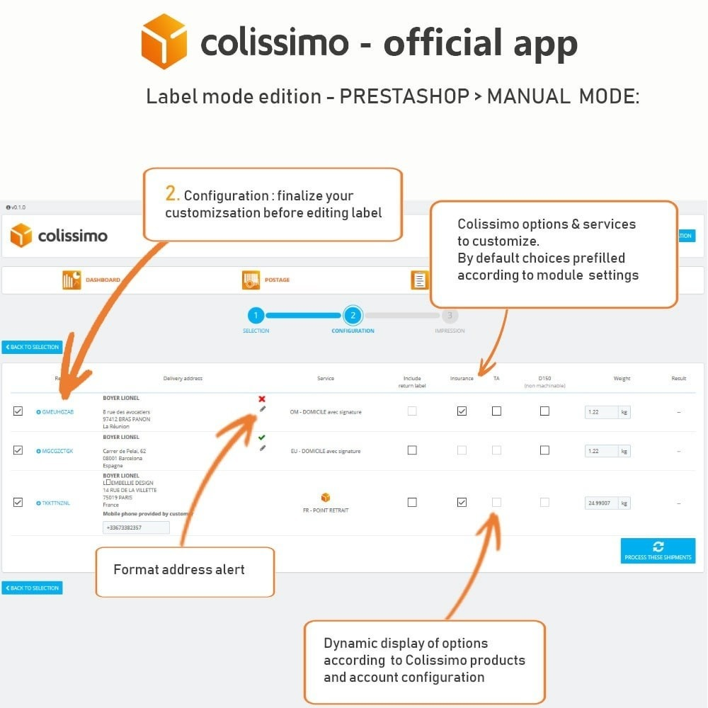 module - Shipping Carriers - Colissimo - Official app: your shipments with Colissimo - 13