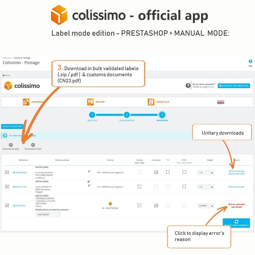 module - Shipping Carriers - Colissimo - Official app: your shipments with Colissimo - 14