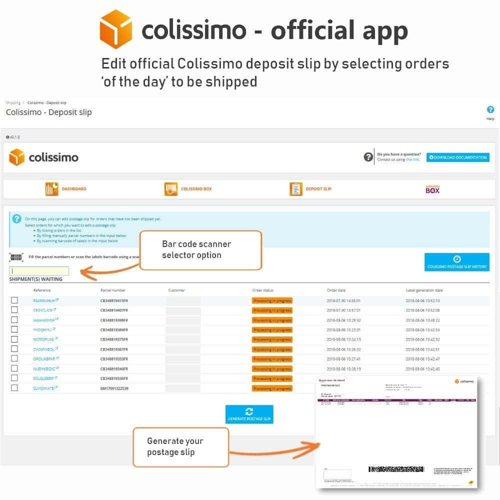 module - Shipping Carriers - Colissimo - Official app: your shipments with Colissimo - 17