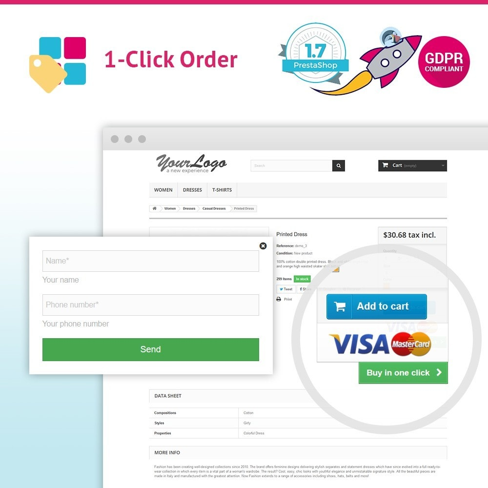 module - Bestelproces - JX One Click Order - 1