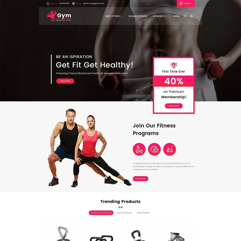 theme - Sports, Activities & Travel - Gym Equipment Store - 2