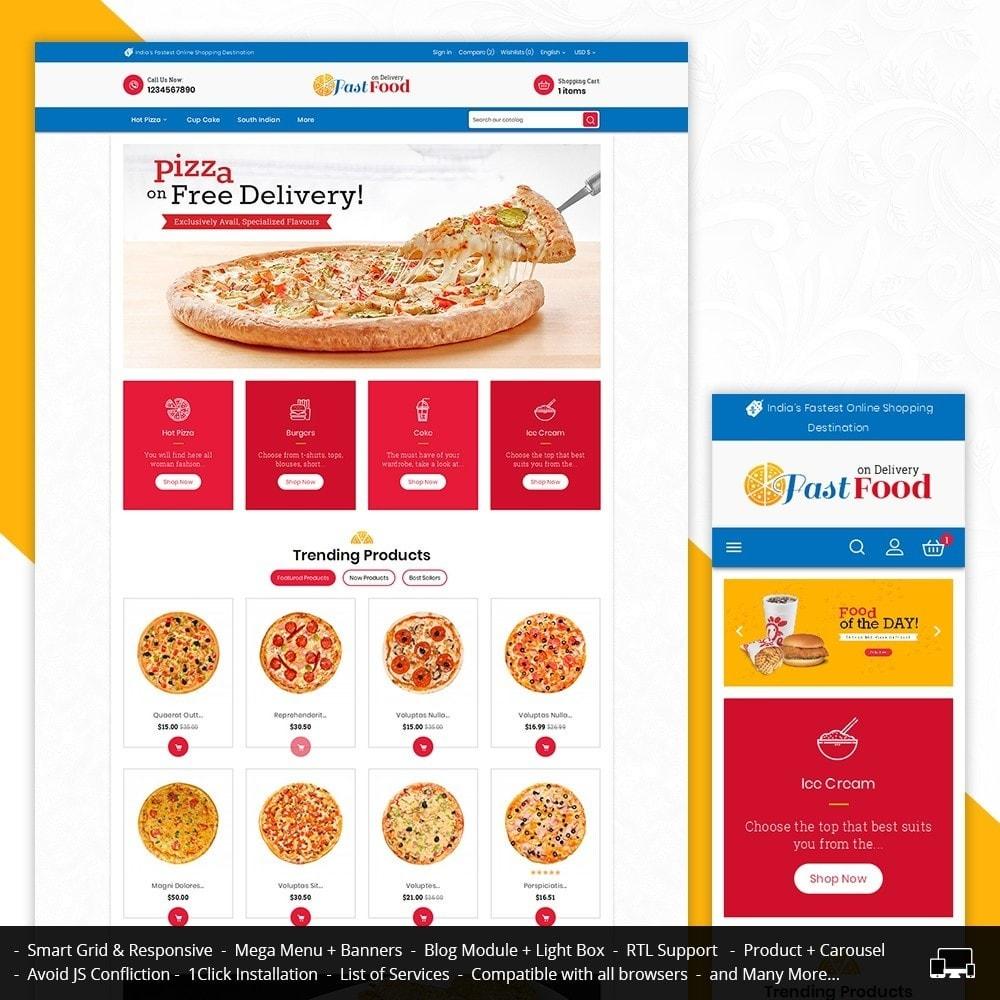 theme - Alimentos & Restaurantes - Pizza Fast Food - 1
