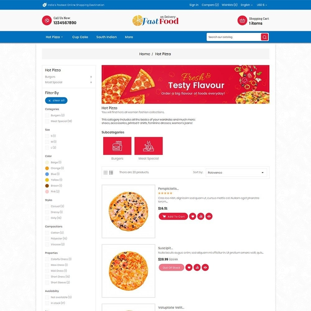 theme - Alimentos & Restaurantes - Pizza Fast Food - 7