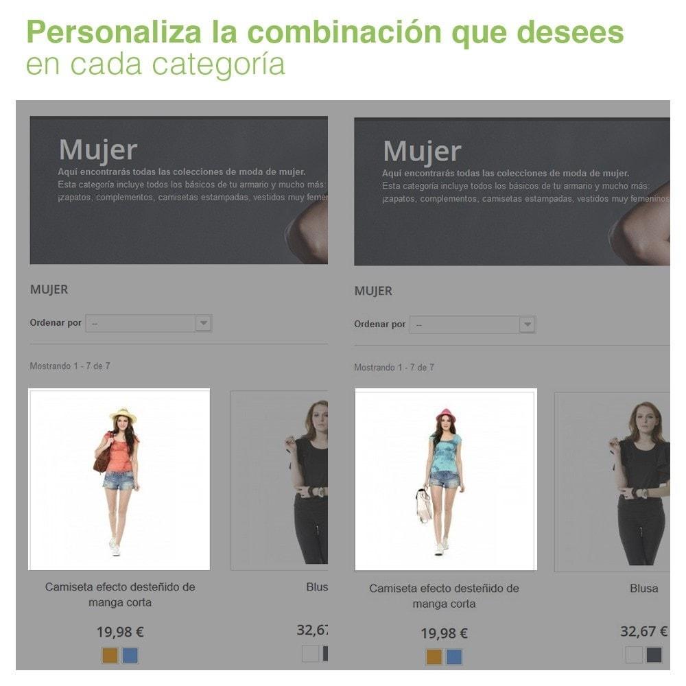 module - Combinaciones y Personalización de productos - Combinación de atributos personalizada por categoría. - 2
