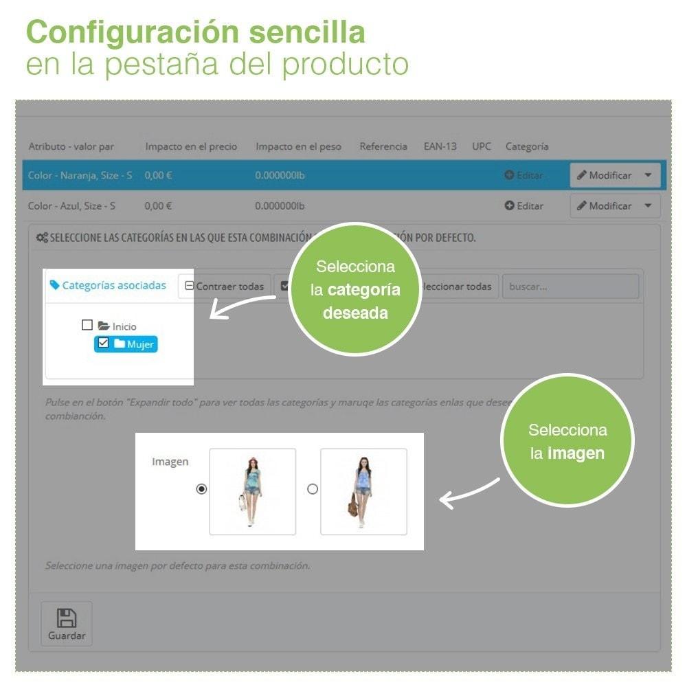 module - Combinaciones y Personalización de productos - Combinación de atributos personalizada por categoría. - 3