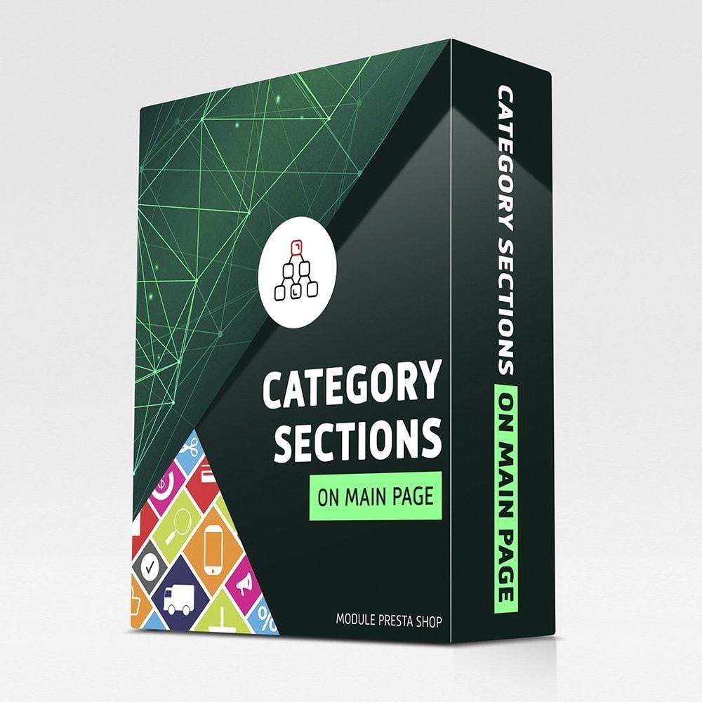 module - Блоки, вкладки и Баннеры - Разделы категорий на главной странице - 1