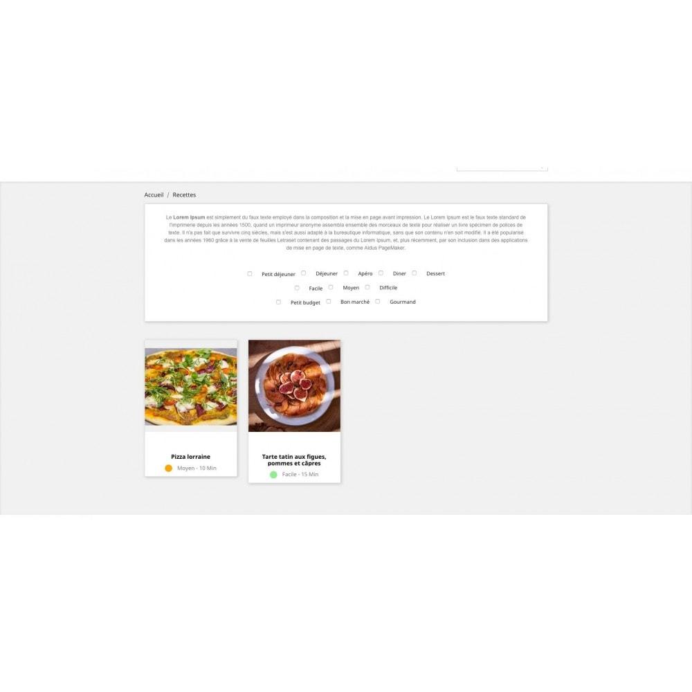 module - Fidélisation & Parrainage - Configurateur de recettes avec vos produits - 2