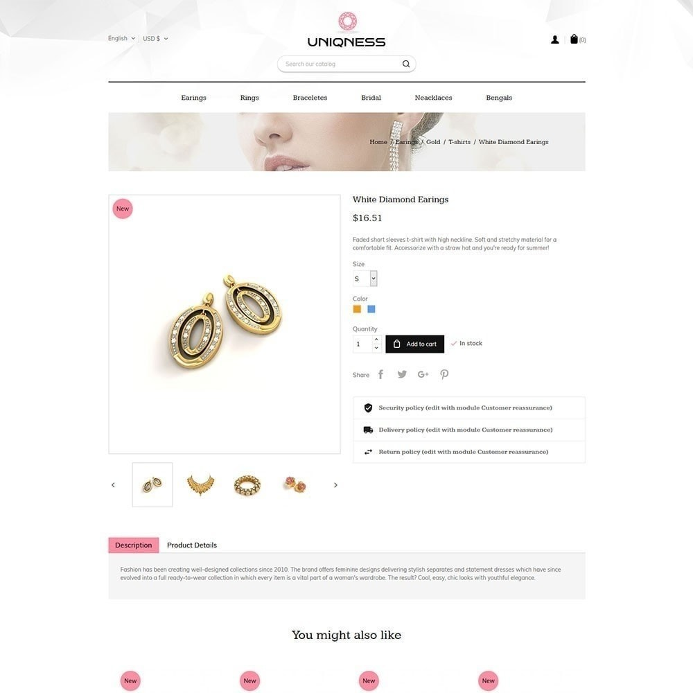 theme - Jewelry & Accessories - Uniqness Jewellery Store - 3