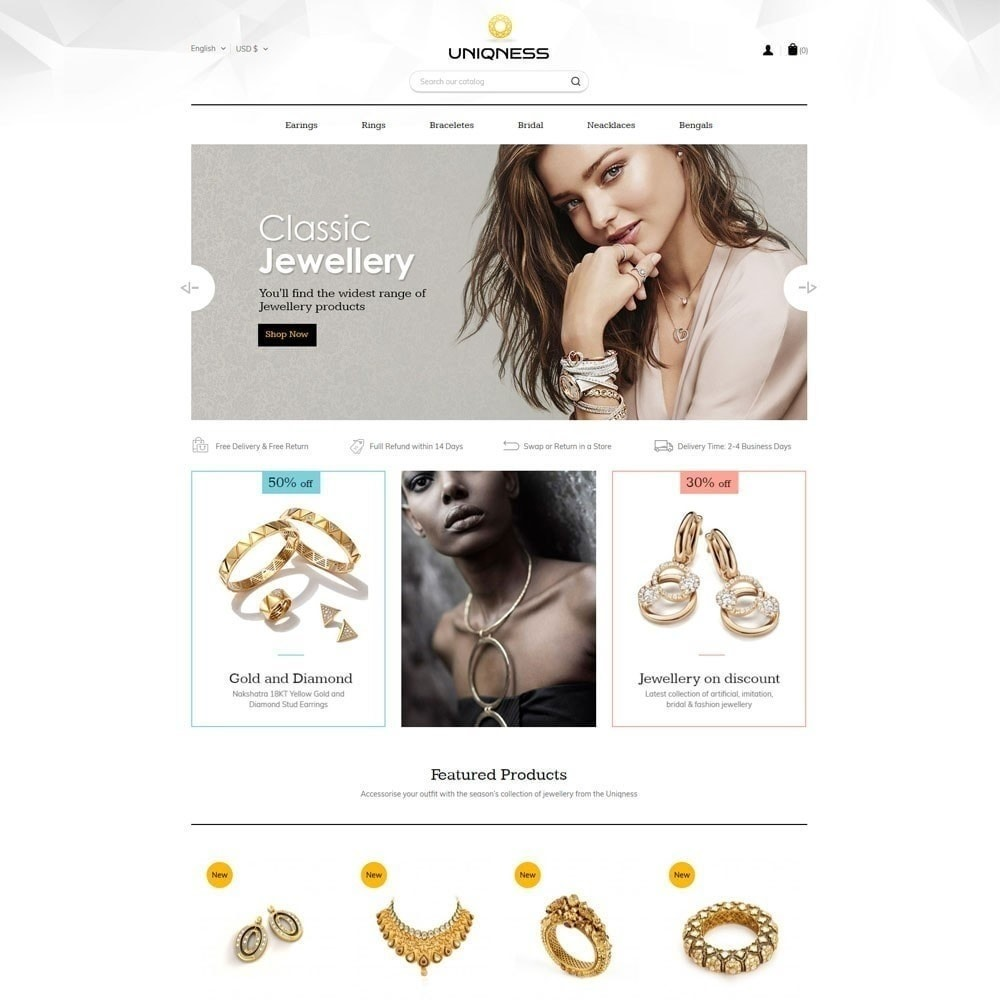 theme - Jewelry & Accessories - Uniqness Jewellery Store - 5