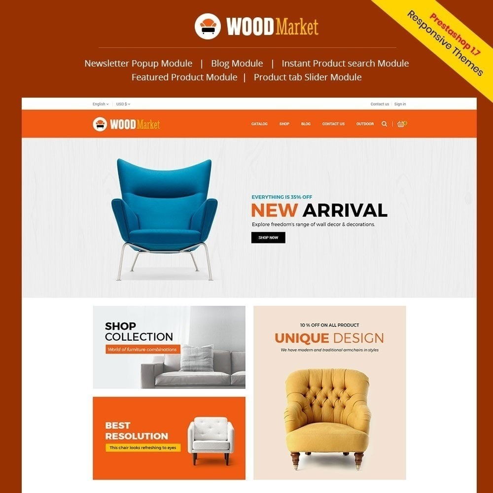 theme - Home & Garden - Wood Furniture Store - 1