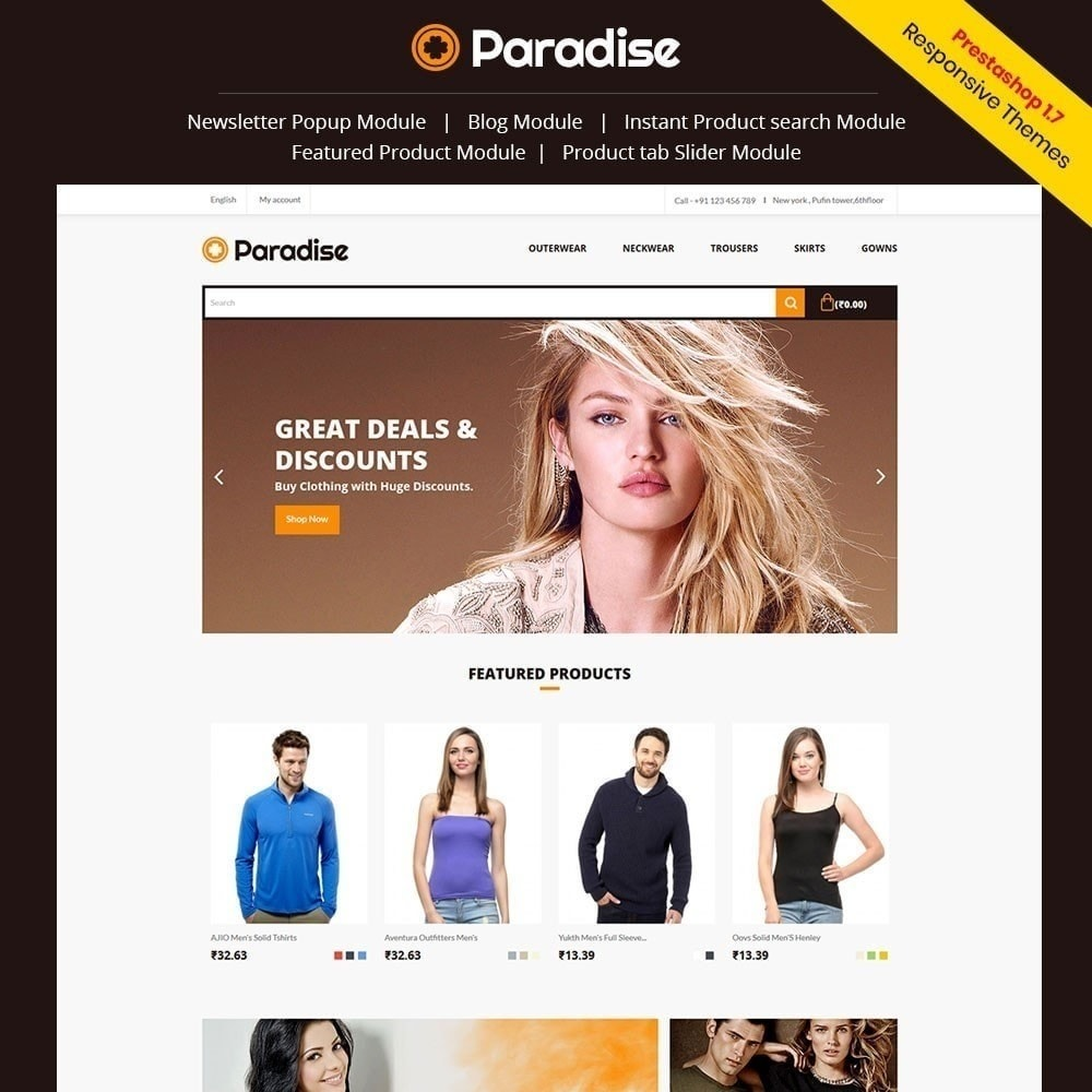 theme - Mode & Chaussures - Paradise - Magasin de mode - 1