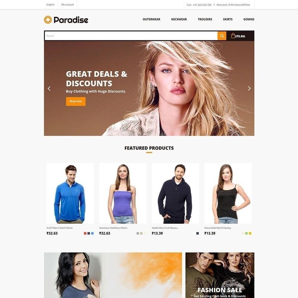 theme - Moda & Obuwie - Paradise - Sklep odzieżowy - 2