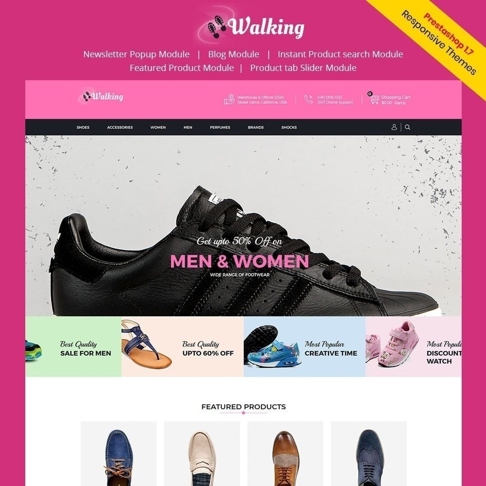 theme - Fashion & Shoes - Walking - Shoes Store - 1