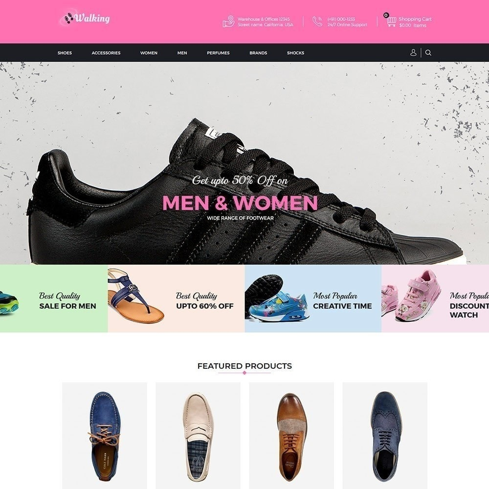 theme - Fashion & Shoes - Walking - Shoes Store - 2