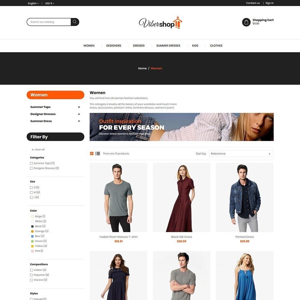 theme - Fashion & Shoes - Viber Fashion - Apparels Store - 3