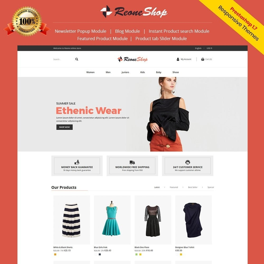 theme - Fashion & Shoes - Reone - Fashion Store - 1