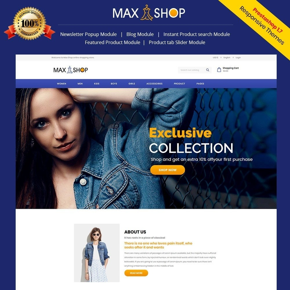 Maxshop - Fashion Store