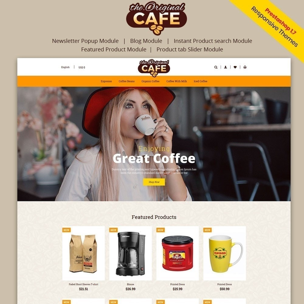 theme - Lebensmittel & Restaurants - Lebensmittel und Restaurant Cafe Store - 1