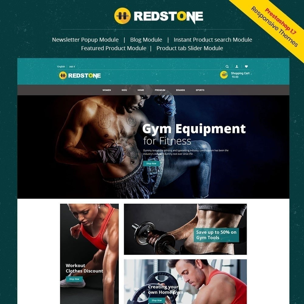 Multipupose Store-Vorlage für das Fitnessstudio