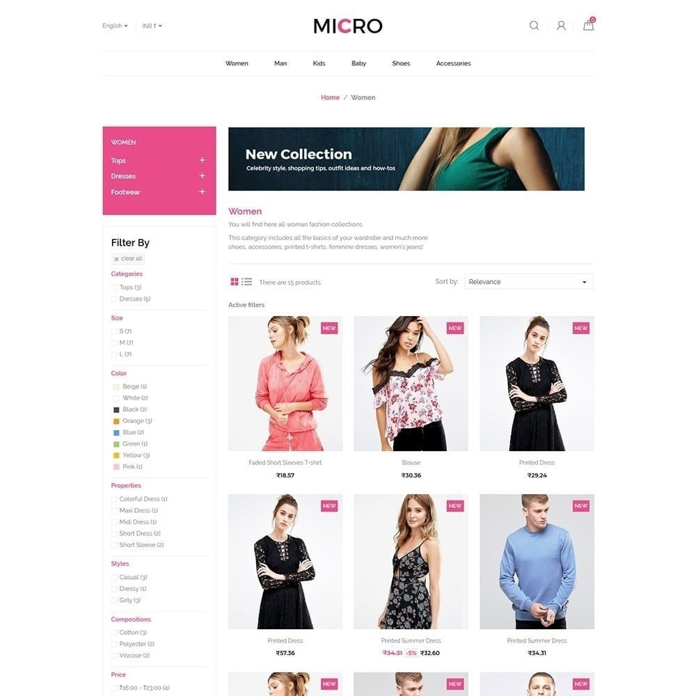 theme - Fashion & Shoes - Micro Fashion Store - 3