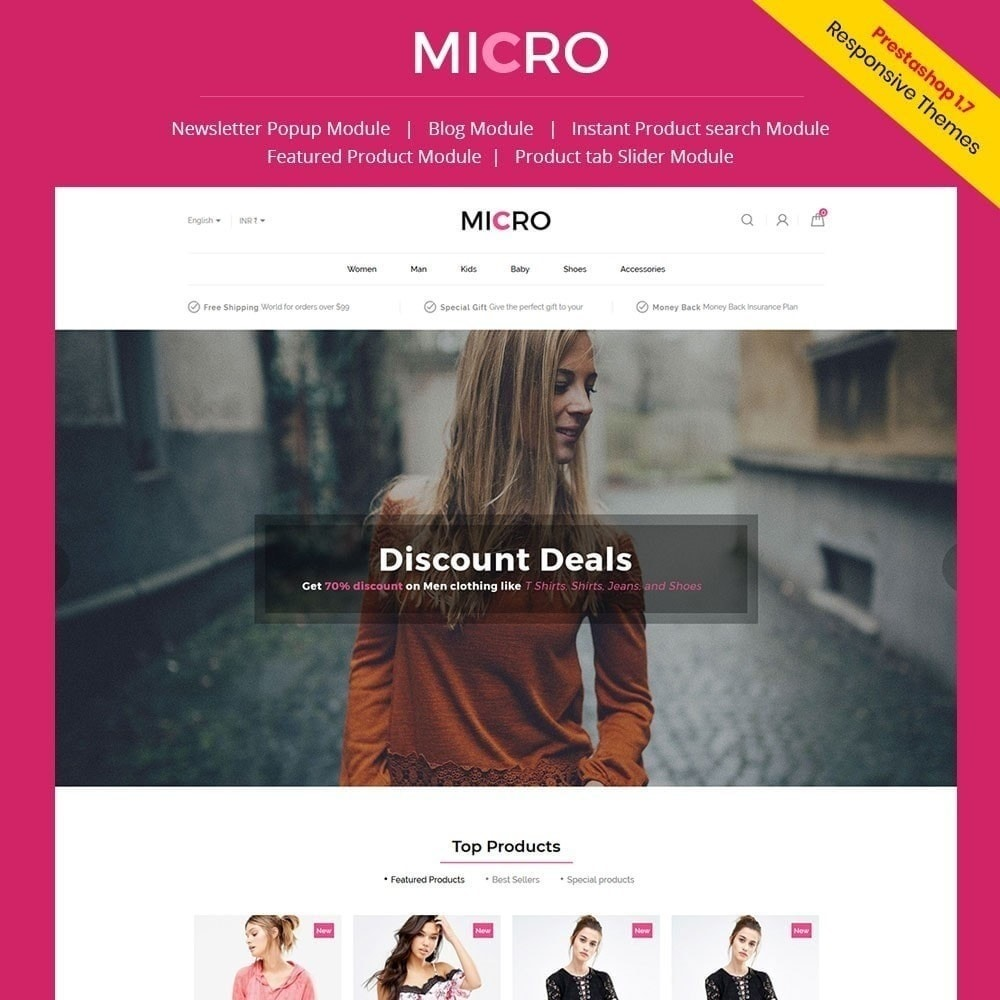 theme - Moda & Calçados - Loja de moda Micro - 1