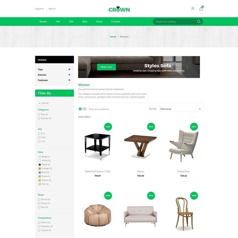 Тема магазина Crown Furniture Store