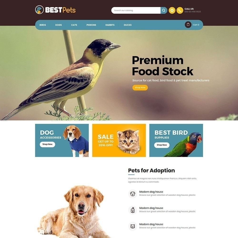 theme - Animales y Mascotas - Tienda de mascotas Bestpet - 3