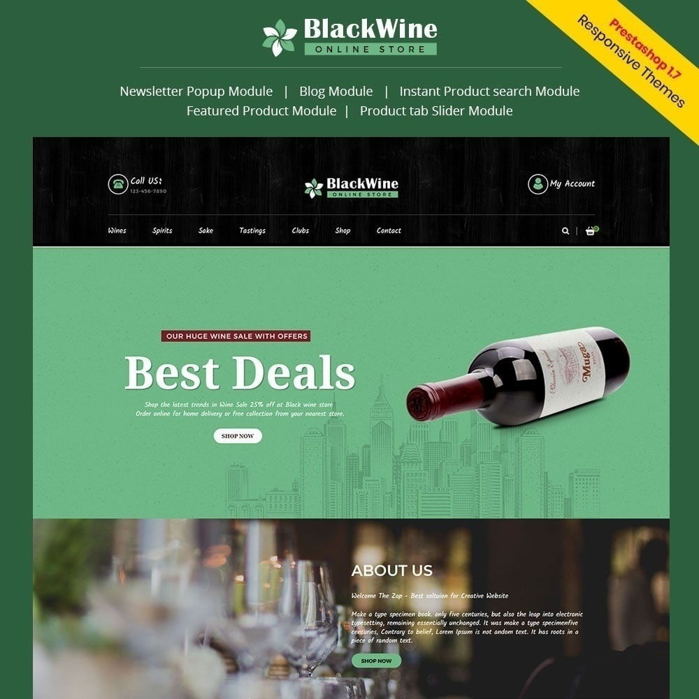 theme - Drink & Tobacco - Blackwine Wine Store - 1