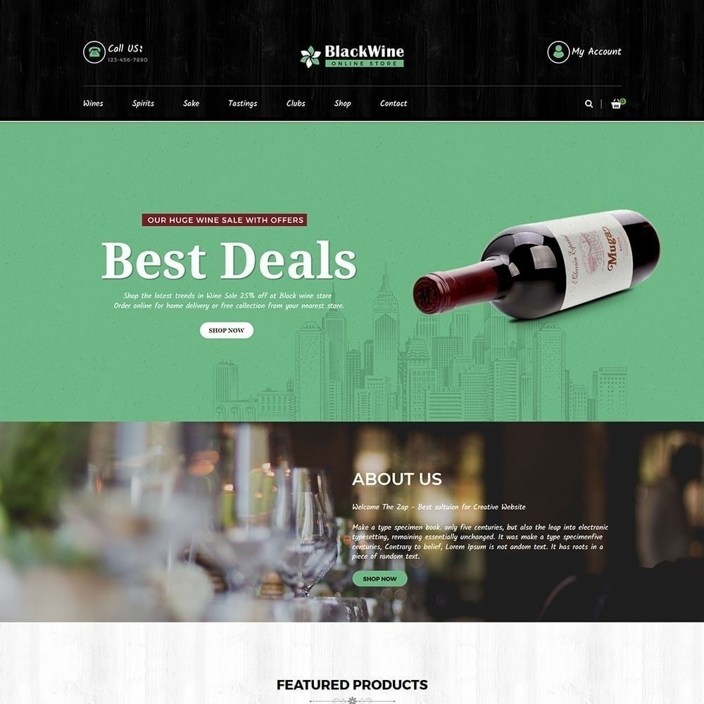 theme - Drink & Tobacco - Blackwine Wine Store - 2