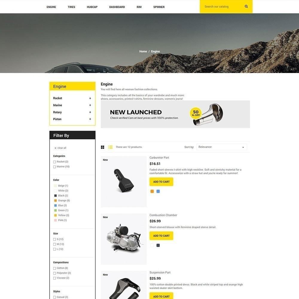 Pieza de auto - Tienda de herramientas