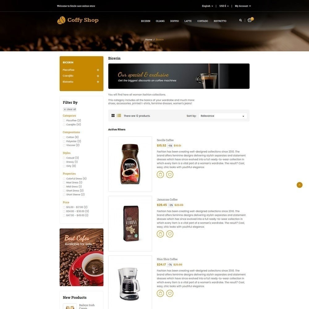 theme - Alimentation & Restauration - Magasin de café - 6